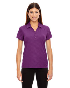 Mulbry Purpl 449 Ladies' Maze Performance Stretch Embossed Print Polo