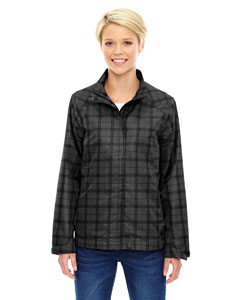Black 703 Ladies' Locale Lightweight City Plaid Jacket