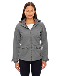 City Grey 458 Ladies' Uptown Three-Layer Light Bonded City Textured Soft Shell Jacket