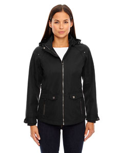 Black 703 Ladies' Uptown Three-Layer Light Bonded City Textured Soft Shell Jacket