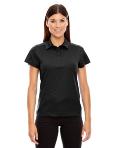 Black 703 Ladies' Symmetry UTK cool.logik™ Coffee Performance Polo