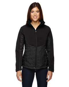 Black 703 Ladies' Innovate Insulated Hybrid Soft Shell Jacket