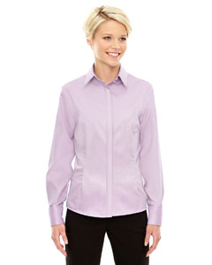 Orchid Prpl 459 Ladies' Refine Wrinkle-Free Two-Ply 80's Cotton Royal Oxford Dobby Taped Shirt