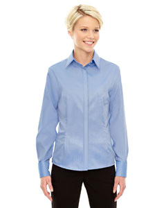 Ink Blue 460 Ladies' Refine Wrinkle-Free Two-Ply 80's Cotton Royal Oxford Dobby Taped Shirt