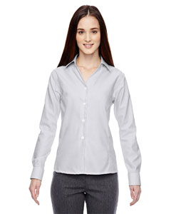 Silver 674 Ladies' Precise Wrinkle-Free Two-Ply 80's Cotton Dobby Taped Shirt