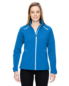 Olympic Blue 447 Ladies' Excursion Soft Shell Jacket with Laser Stitch Accents