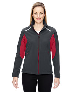 Carbn/oly Rd 467 Ladies' Excursion Soft Shell Jacket with Laser Stitch Accents