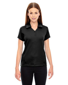 Black 703 Ladies' Exhilarate Coffee Charcoal Performance Polo with Back Pocket