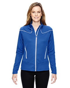 Nauticl Blu 413 Ladies' Interactive Cadence Two-Tone Brush Back Jacket