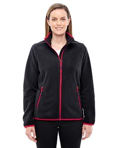 Blk/ Oly Red 461 Ladies' Vector Interactive Polartec Fleece Jacket
