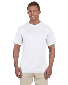 White 100% Polyester Moisture-Wicking Short-Sleeve T-Shirt