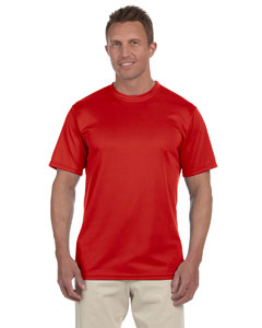 Red 100% Polyester Moisture-Wicking Short-Sleeve T-Shirt