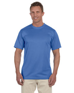 Columbia Blue 100% Polyester Moisture-Wicking Short-Sleeve T-Shirt