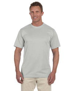 Silver Grey 100% Polyester Moisture-Wicking Short-Sleeve T-Shirt