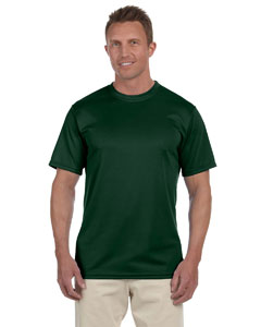 Dark Green 100% Polyester Moisture-Wicking Short-Sleeve T-Shirt
