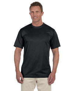 Black 100% Polyester Moisture-Wicking Short-Sleeve T-Shirt
