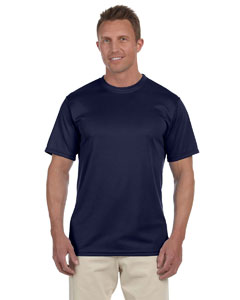 Navy 100% Polyester Moisture-Wicking Short-Sleeve T-Shirt