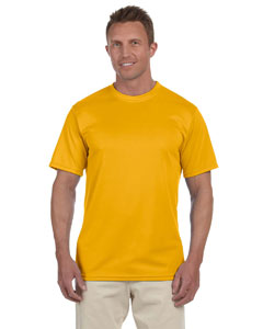 Gold 100% Polyester Moisture-Wicking Short-Sleeve T-Shirt