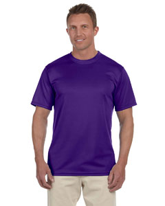 Purple 100% Polyester Moisture-Wicking Short-Sleeve T-Shirt