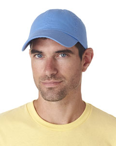 Light Blue Classic Cut Chino Cotton Twill Unconstructed Cap