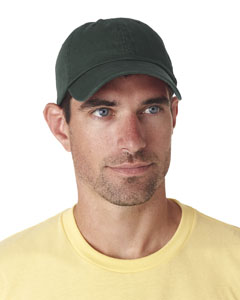 Forest Green Classic Cut Chino Cotton Twill Unconstructed Cap