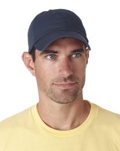 Navy Classic Cut Chino Cotton Twill Unconstructed Cap