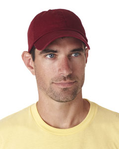 Maroon Classic Cut Chino Cotton Twill Unconstructed Cap