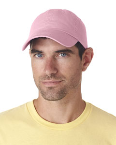 Pink Classic Cut Chino Cotton Twill Unconstructed Cap