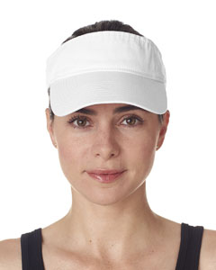 White Adult Classic Cut Chino Cotton Twill Visor