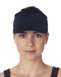 Navy Adult Classic Cut Chino Cotton Twill Visor