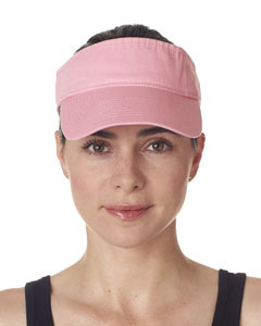 Pink Adult Classic Cut Chino Cotton Twill Visor