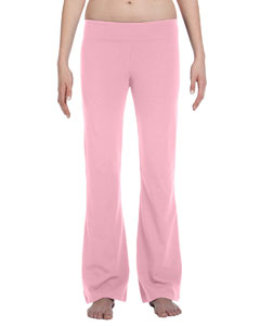 Pink Women's Cotton/Spandex Fitness Pant
