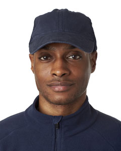 Navy/ Navy Classic Cut Washed Brushed Cotton Twill Unconstructed Trucker Cap