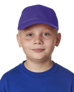 Purple Youth Classic Cut Cotton Twill 6-Panel Cap