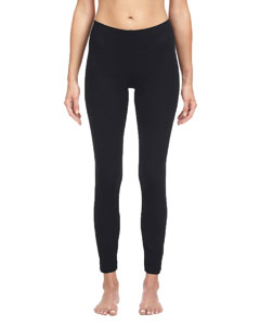 Black Ladies' Cotton Spandex Legging