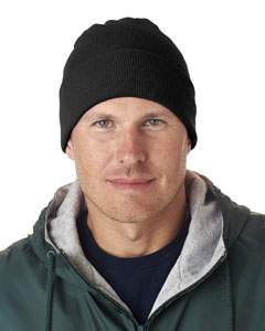 Black Adult Knit Beanie with Cuff