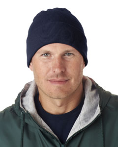 Navy Adult Knit Beanie with Cuff