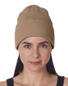 Sandstone Adult Knit Beanie with Cuff