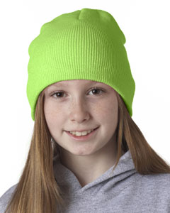 Lime Green Knit Beanie