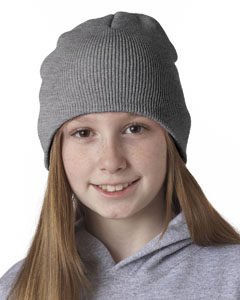 Heather Grey Knit Beanie