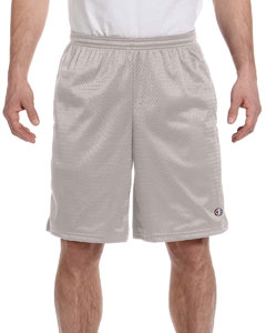 Athletic Grey 3.7 oz. Long Mesh Shorts with Pockets