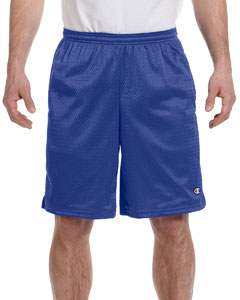 Athletic Royal 3.7 oz. Long Mesh Shorts with Pockets