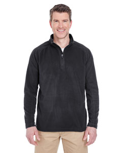 Black Adult Cool & Dry Quarter-Zip Microfleece