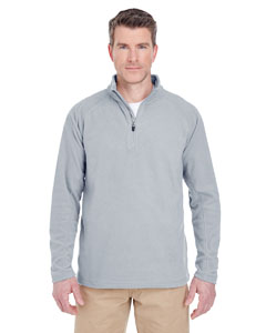 Silver Adult Cool & Dry Quarter-Zip Microfleece
