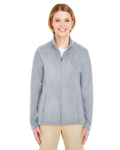 Silver Ladies Cool & Dry Full-Zip Micro-Fleece