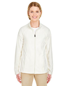Winter White Ladies Cool & Dry Full-Zip Micro-Fleece