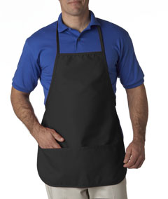 Black Large 2-Pocket Bib Apron
