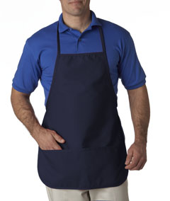 Navy Large 2-Pocket Bib Apron