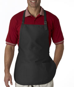 Black 3-Pocket Apron with Buckle