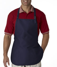 Navy 3-Pocket Apron with Buckle